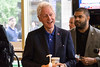 Former president Bill Clinton shares a few stories during an unplanned stop at the Heine Bros. Coffeeshop on Fourth Street Tuesday afternoon. 5/3/16