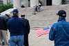 A modest crowd of the devoted assembled at the steps of Metro Hall to observe the National Day of Prayer on Thursday. 5/5/16