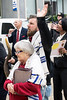 Jeanie Benham and Rabbi Dusty Benham of the Y'shua's Burning Bush Ministries participate in the National Day of Prayer on Thursday. 5/5/16