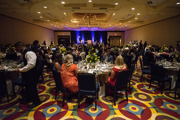 Roughly 160 guests enjoy the dinner portion of the Ferdinand's Ball on Thursday night. 5/5/16