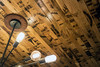 Laser-etched ceiling planks give a bourbon barrel theme to Taj Louisville in NuLu. 5/17/16