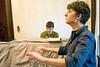 Thompson Street Opera Company conductor Alex Enyart leads rehearsal as pianist Ethan McCollum provides the score. 5/20/16