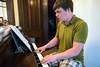 Pianist Ethan McCollum provides the rehearsal score for the Thompson Street Opera Company. 5/20/16