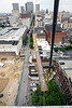 The view looking north along 4th Street from the Brown Hotel will soon be available to the public as a major rooftop renovation nears summer completion. 5/25/16