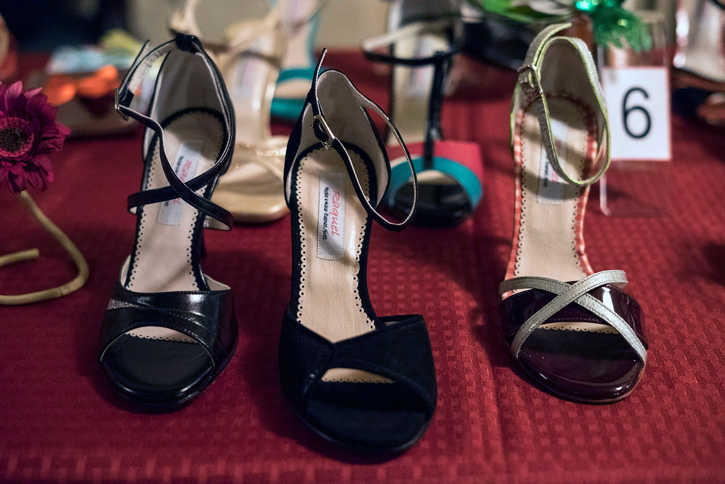 Shoes to tango in were available from vendors during the Louisville Tango Festival on Friday night. 5/27/17