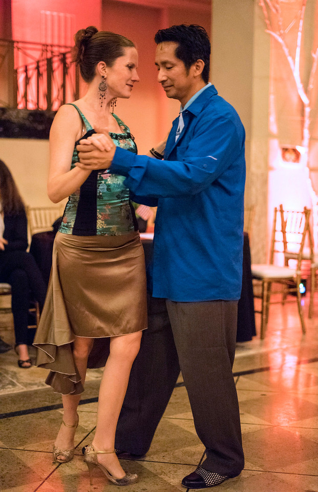 Sherman Salangad and Alexis Weinkauf show off their skills during the Louisville Tango Festival on Friday night. 5/27/16