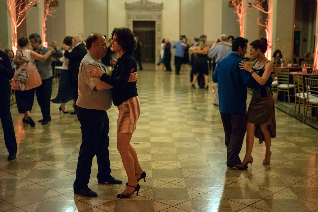 The Gillespie Building on West Market Street was transformed into a tango club known as a Milonga during the Louisville Tango Festival on Friday night. 5/27/16
