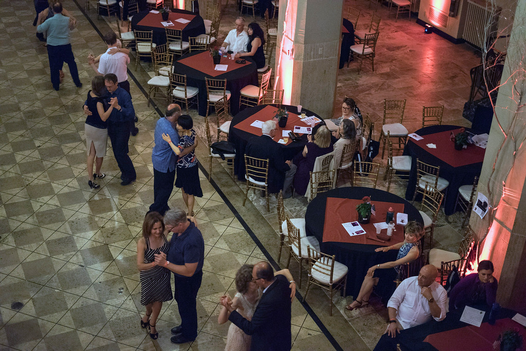 Couples continue to tango late in the evening at The Gillespie on Friday night during the first Louisville Tango Festival. 5/27/16