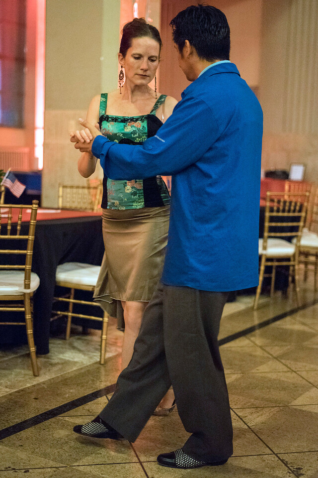 Alexis Weinkauf and Sherman Salangad take to the dance floor during the Louisville Tango Festival on Friday night. 5/27/16