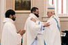 Louisville Archbishop Kurtz welcomes Luder Wilfredo Fernandez Panica and Sean David McKinley into the priesthood during an ordination ceremony on Saturday. 5/28/16