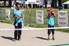 Kaema Mackey and Edward Moore enjoy some action on the pickleball court during the Hike, Bike, & Paddle event at Waterfront Park on Monday. 5/30/16