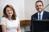Kentucky first lady Glenna Bevin and governor Matt Bevin were all smiles during the announcement of a summer program aimed at helping youth in foster care called Fostering Success. 5/31/16