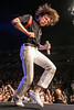 Cage the Elephant lead singer Matt Shultz danced down a stage runway to get closer to his fans during a concert at the KFC Yum Center on Friday night. 6/3/16