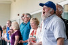 James Webb cheers on his picks during the Norton Cancer Institute's Survivor Celebration Day at Churchill Downs on Sunday. 6/5/16