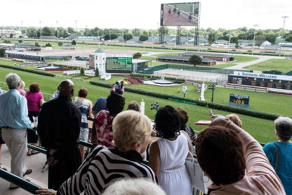 A full view of Churchill Downs was one of the many perks of the Norton Cancer Institute's Survivor Celebration Day. 6/5/16