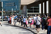A crowd estimated around 200 stood in line Tuesday morning for tickets to the Islaminc funeral prayer service for Muhammad Ali on Thursday at Freedom Hall. 6/7/16
