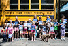 The Bridegpoint Elementary Read and Feed Bus provided books and lunches to a gathering of children in the King Solomon Apartments in Jeffersonville, IN on Wednesday. 6/29/16