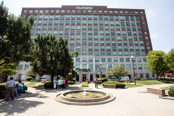 The courtyard behind the Humana Building was abuzz with breaking news about the Aetna merger during lunchtime on Thursday afternoon. 7/21/16