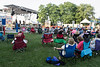 Music fans line the lawn at the Water Tower for the annual Blues, Brews & BBQ Festival on Friday night. 7/22/16