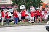 JCPS teachers continued their fight to be heard during a protest on Tuesday afternoon at the Van Hoose Education Center. 7/26/16