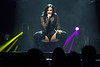 Singer Demi Lovato drops closer to her fans at the Yum Center on Friday. 7/29/16