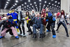 The X-Men unite for a group photo as onlookers line up with cellphones to capture the 10-person team in all its colroful glory at FandomFest 2016. 7/30/16