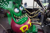 Ed Roth's Rat Fink character was one of the first to greet guests at the annual FandomFest at the Expo Center on Saturday. 7/30/16