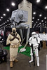 A Tusken Raider and Stormtrooper flex a little muscle on behalf of the Empire during FandomFest 2016 on Saturday. 7/30/16