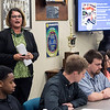 Ford workforce development coordinator Tami Hatfield lead a panel discussion with teens and the media on Tuesday about the motor plant's summer program to boost interest in manufacturing jobs. 8/2/16