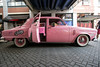The ever popular Pink Ladies ride form Grease sat at Fourth Street Live on Wednesday as the National Street Rod Association rolled into town for its annual convention. 8/3/16