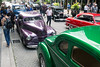 A sampling of the 11,000+ vintage cars in town for the National Street Rod Association's annual visit were on display at Fourth Street Live on Wednesday. 8/3/16