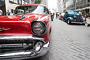 Vintage cars from several eras of automotive history lined Fourth Street Live on Wednesday as the National Street Rod Association arrived in Louisville for its annual visit. 8/3/16