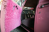 Even the interior of the Pink Ladies replica car from the movie Grease is detailed to perfection. 8/3/16