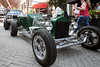 Vehicles from a wide range of eras, but all under the category of street rod, line the pavement at Fourth Street Live on Wednesday. 8/3/16