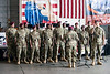 The 82nd Airbourne All-American Chorus from Fort Bragg entertained the crowds at the Spirit of '45 Commemoration at Bowman Field. 8/13/16