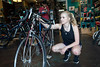 UofL student Megan Fell takes a closer look at one of the cycles at Parkside Bikes on Bardstown Road as she decides how to use a $400 bike voucher she earned through a university program. 8/22/16