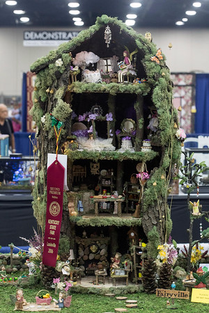Judy Scott's Fairyville was a crowd pleaser at the Kentucky State Fair with its unconventional approach to the dollhouse concept. 8/24/16