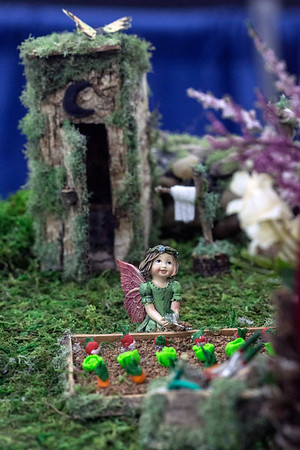 The abundance of color and detail in Judy Scott's Fairyville drew the attention of guests at the Kentucky State Fair. 8/24/16