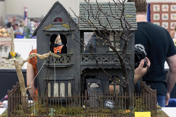 Haley Dewitt's haunted dollhouse was a crowd favorite sandwiched between the more traditional designs on display at the Kentucky State Fair. 8/24/16