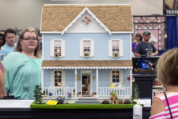 Kathleen Cable's dollhouse design took third place at the Kentucky State Fair. 8/24/16