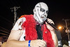 Perfomer Shawn of the Dead takes the stage during the annual Zombie Walk to wow the crowd with his classic human blockhead routine. 8/27/16