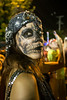 Louisville designer Rebekah Trigg shows off her craftsmanship and makeup abilities during the annual Zombie Walk in the Highlands. 8/27/16