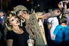 Even zombies realize the potential of a good selfie as Haley Manford and Chris Ricks enjoy the Zombie Walk on Saturday night. 8/27/16