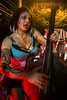 Vice Tricks bass player Verity Vice shows off her on-stage skills during the Zombie Walk. 8/27/16