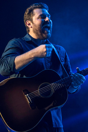 Chris Young enjoys the moment during a concert at Freedom Hall. 8/28/16