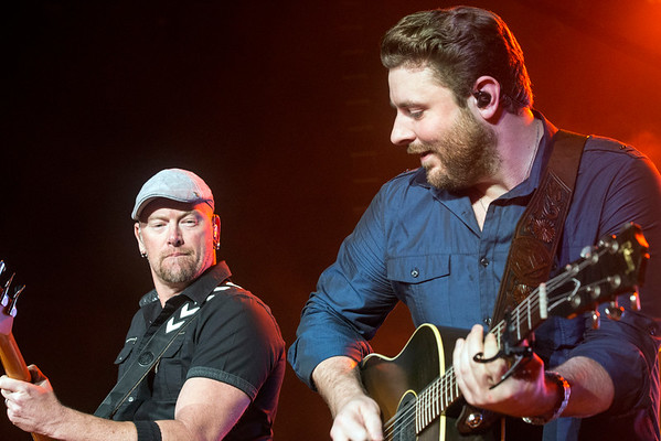 Country music star Chris Young gets the crowd going at Freedom Hall on Sunday night. 8/28/16