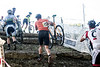 Cyclists are required to carry their bikes through a section of the 12th Annual Papa John's Storm Eva Bandman Halloween Cross. 10/23/16