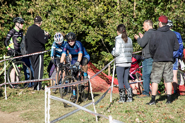 Fans cheer on cyclists as the reach the top of a steep hill during the 12th Annual Papa John's Storm Eva Bandman Halloween Cross. 10/23/16