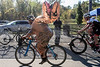 Cyclist Gregg Dyas dons a T-rex costume during the 12th Annual Papa John's Storm Eva Bandman Halloween Cross on Sunday. 10/23/16