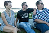 Tana Leggo, Cory Stalcup and CJ Cumberland watch from the lawn as Relic performs during the Kentucky Bluegrass & Bourbon Experience on Saturday. 9/3/16